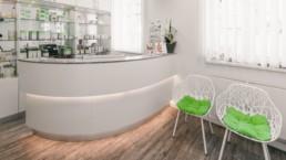 Anmeldung Kosmetik- und Badeabteilung