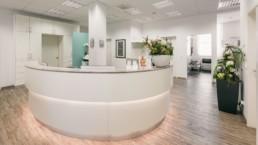 Anmeldung Hautarzt-Praxis